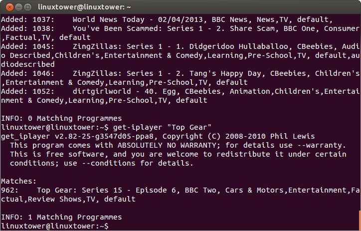 TV download guide • get_iplayer | get_iPlayer • Forums